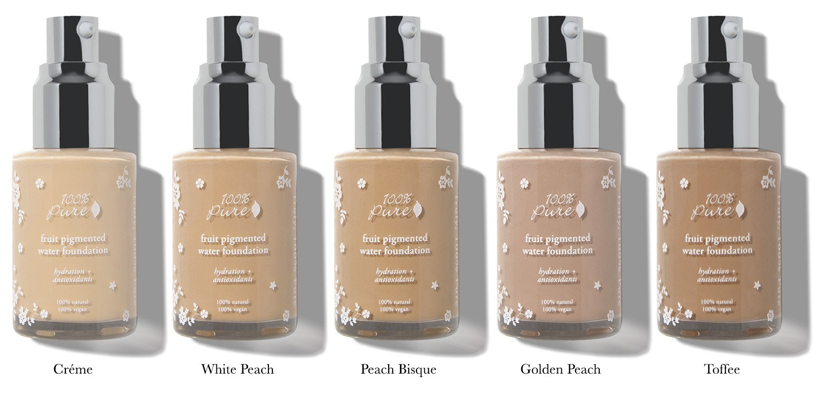 100% Pure Naturkosmetik Foundation / Fruit Pigmented Water Foundation