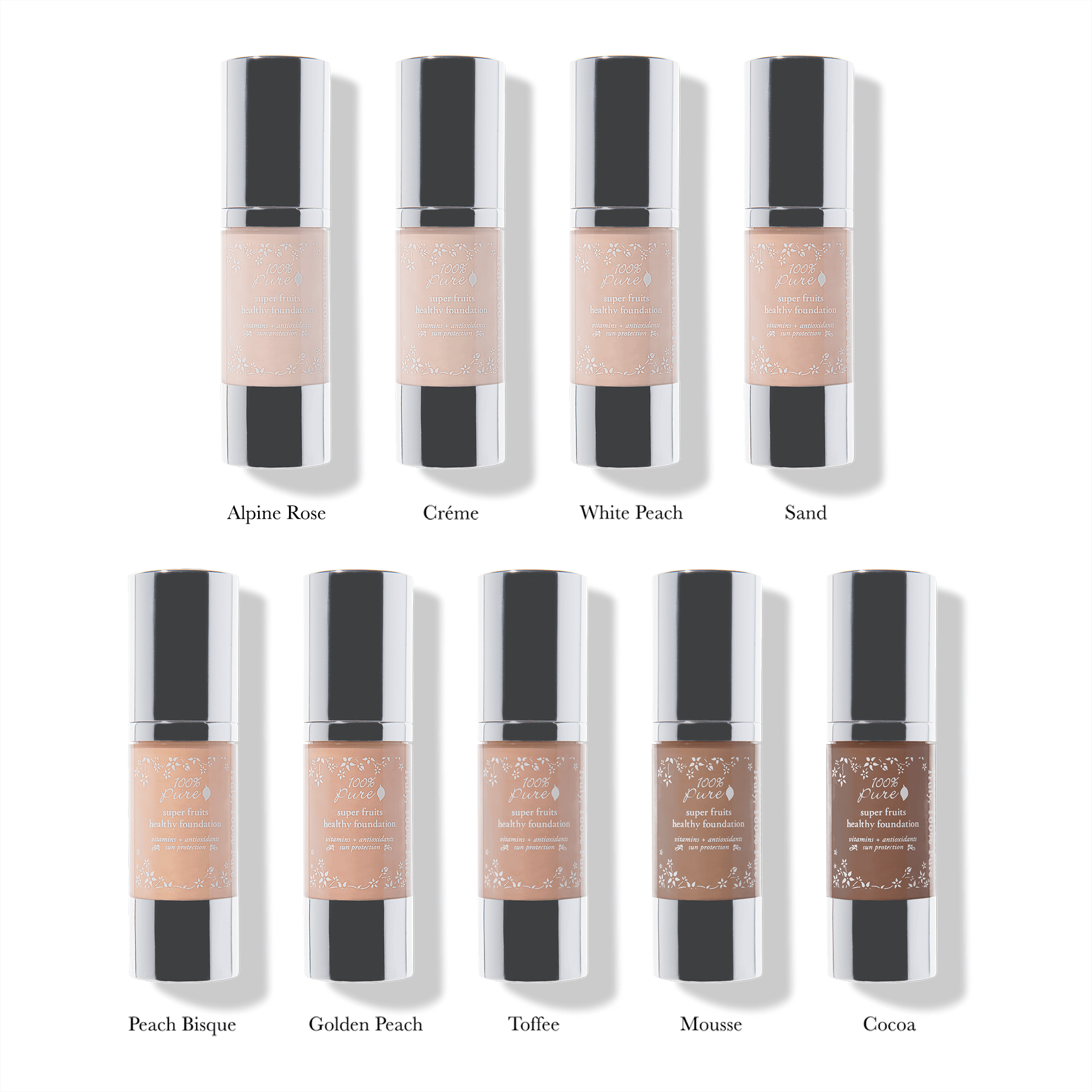 100% Pure Naturkosmetik Foundation / Fruit Pigmented Healthy Foundation